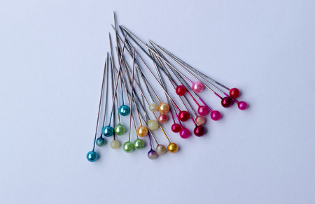 sewing accessories: Sewing accessories : colorful of pins