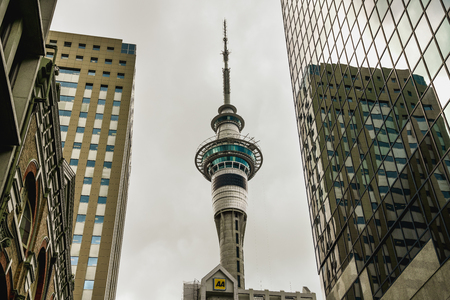 Sky Tower, Auckland, New Zealand 免版税图像