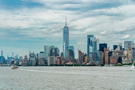 New York City Skyline with Manhattan Financial District and World Trade Center, NYC