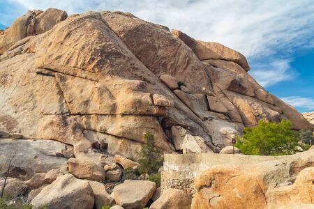 A rockpile along the trail in Joshua Tree National Park, California Stock Photo