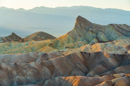Red Canyon, Manly Beacon, Zabriskie Point Loop, panorama. Death Valley National Park