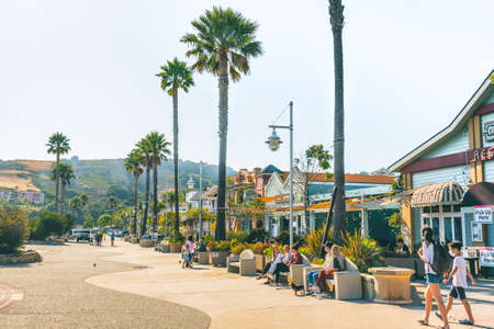 Avila Beach, California/USA - July 2, 2020 Avila Beach is an amazing small town in Central California Coast with beach hotels, restaurants, shops, activities, fishing, events, and more.