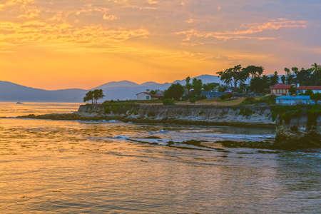 Golden hour. Beautiful sunset at Pismo Beach, California Zdjęcie Seryjne