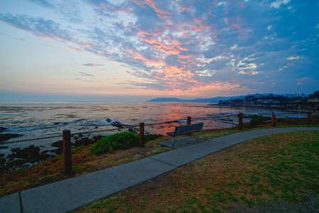 Pismo Beach sunset, California coastline