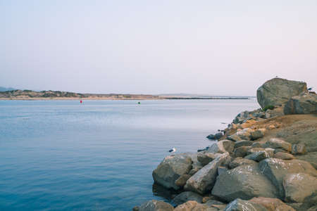 Rocky beach and ocean view, Morro Bay,  California Coastline Zdjęcie Seryjne