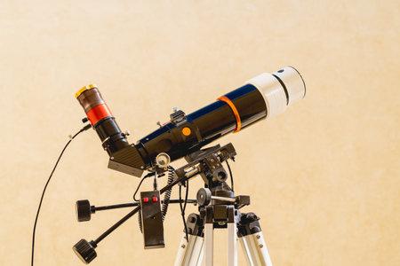 Solar telescope close up on light background Foto de archivo