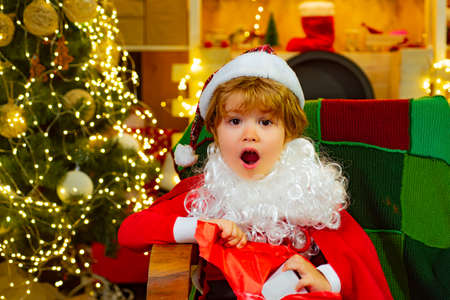 Happy child and Christmas surprise.