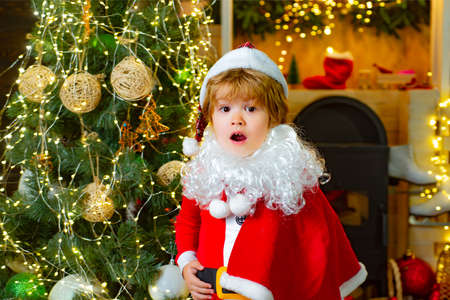 Child Santa Clause, Christmas surprise.