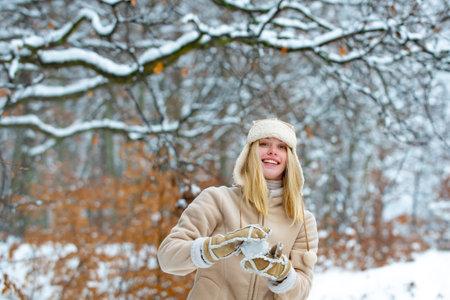Snow mood. Winetr holidays, happy girl style.