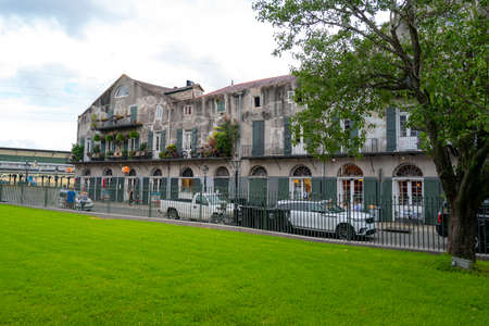 New Orleans, Louisiana, USA - JUNE, 2020: Historic building in the city New Orleans. French Quarter.