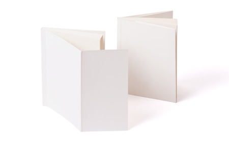 Double blank leaf in the front or the back of a book. Mock-up for printing products and presentations.