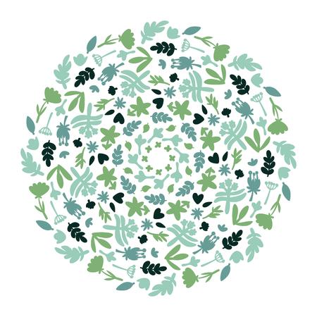 Flower Mandalas. Vintage decorative elements. Doodle pattern, vector illustration. Islam, Arabic, Indian, turkish, pakistan, chinese, ottoman motifs