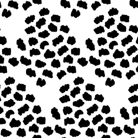 Nahtloser Punkt abstrakter schwarzer Hintergrund. Modernes Vektordesign