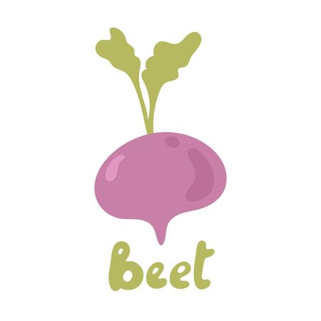 Beetroot vegetable icon template design. Purple beet icon. Fresh vegetarian concept. Health vegetarian cool simple flat design beetroot symbol. Vegetable Ingredient for food