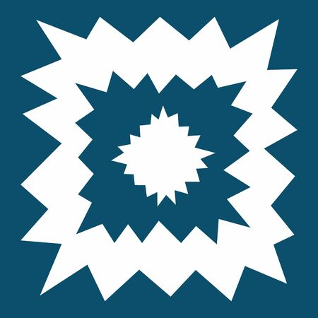 Starry modern square tile, geometry shapes in cold tone. Irregular shapes on blue background. Keen irregular big elements. Modern style. Line with sharp corners. Asymmetrical paper cut line