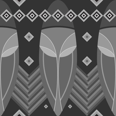 Seamless pattern black and white. Vettoriali
