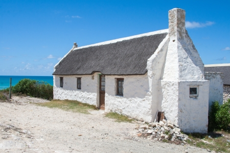 white washed: White washed house at Arniston Stock Photo