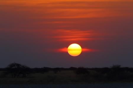 np: Sunset at Nxai Pan NP