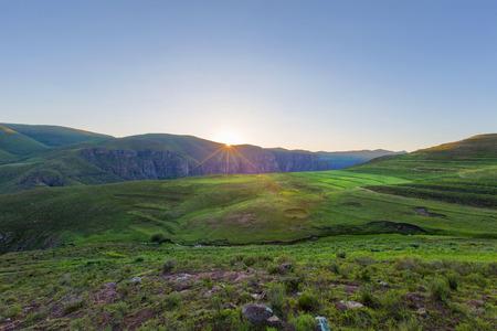 LESOTHO: Sunrise in Lesotho near Semonkong