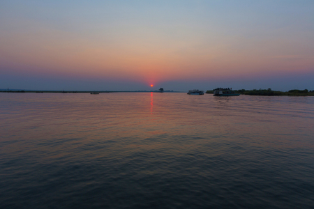 chobe: Sunset over the Chobe River