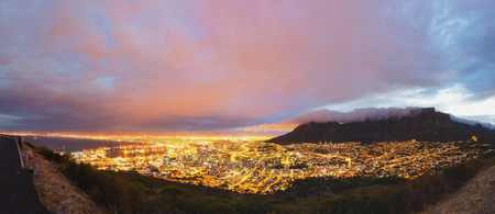 cape town: Cape Town and Table Mountain panorama