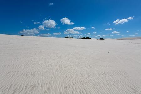 atlantis: Patterns in the white sand of Atlantis Stock Photo