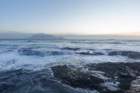 Table Mountain View von Bloubergstrand Standard-Bild