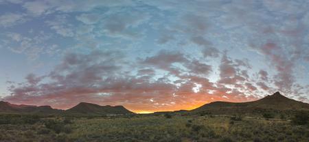 np: Sunrise at Karoo NP Stock Photo