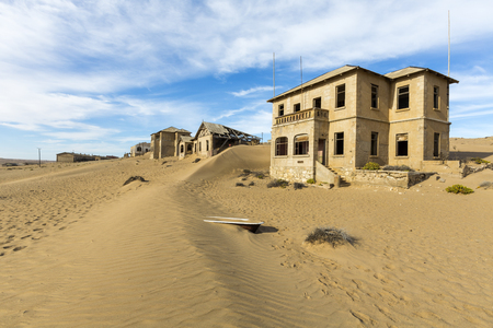kolmanskop: New dune in Kolmanskop Stock Photo