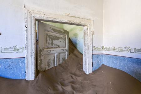 kolmannskuppe: Sand keep the door open Stock Photo