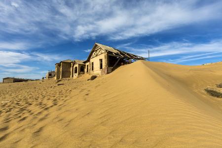 kolmanskop: Sand and sky at Kolmanskop