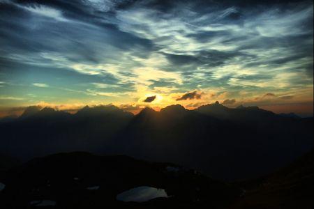 alpen: HDR Fotografie Stock Photo