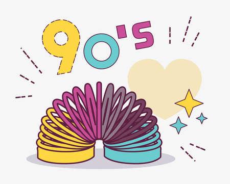 Design style element collection 90s. Item from 90s toy. USSR. Illusztráció