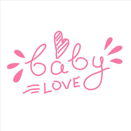 Pregnancy Announcements baby. Lettering Baby love, album elements