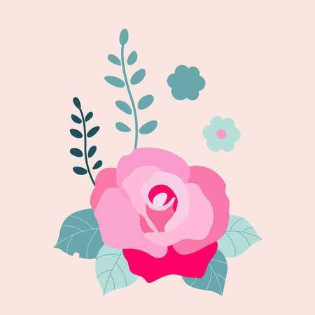 Vector silhouette of a rose. Flower tattoo on isolated background. Vector illustration for design
