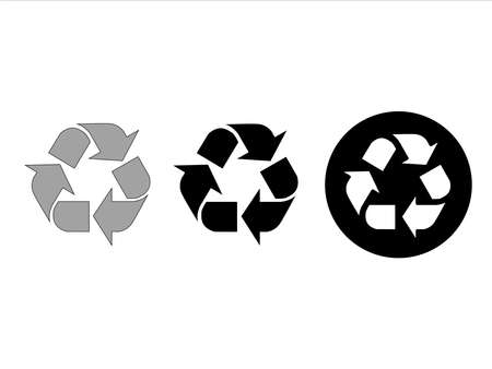 Recycle symbol isolated on white background. Mobius strip. Black Recycle icon set vector for packing