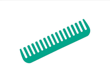 Hair Comb icon. Barber symbol silhouette isolated on white background.  Vector illustration for Website page and mobile app design.