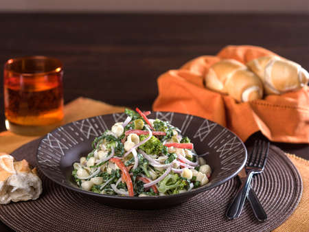Pasta Salad with vegetables Stock Photo - 54006759