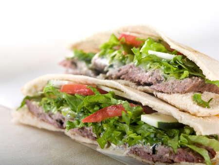 Gyro pita bread sandwich