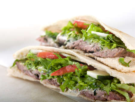 pita bread: Gyro pita bread sandwich