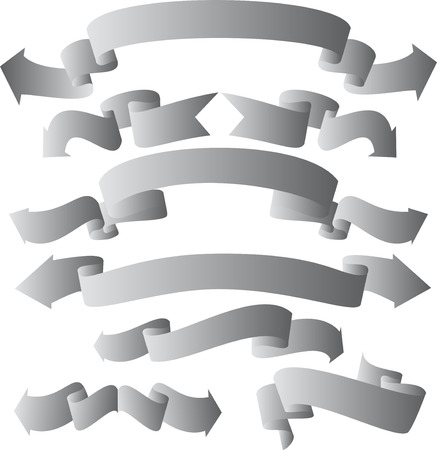 bended: Banner  ribbon collection - bended with arrows