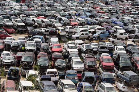 wrecks: Car Wrecks on junkyard