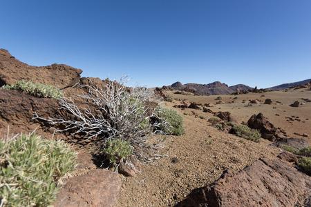 nger: volcano landscape  desert - sand, rocks, blue sky
