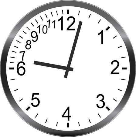 시간 관리 은유 늦게되는 시간을 서둘러하지