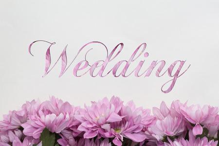 mariage: wedding card flower decoration Stock Photo
