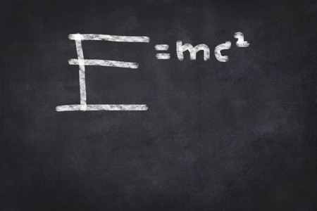 mc2: formula on chalkboard