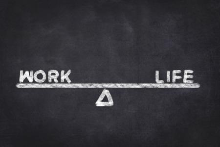 life metaphor: Work Life Balance metaphor on chalkboard