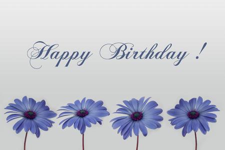 お誕生日おめでとうカード花装飾