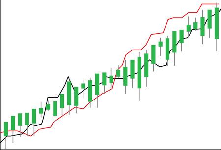 Stock chart - Stock Market Illustration Ilustracja