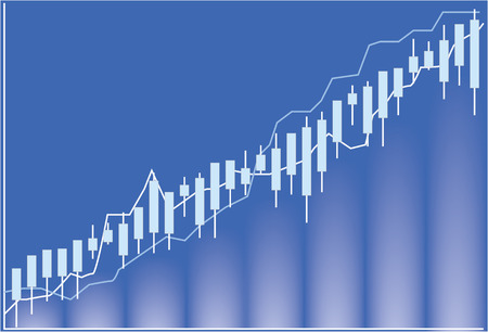 stock trading: Stock chart - Stock Market Illustration Illustration